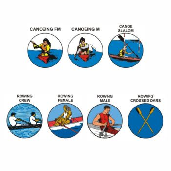 Canoeing & Rowing pk of 5 25mm centres-